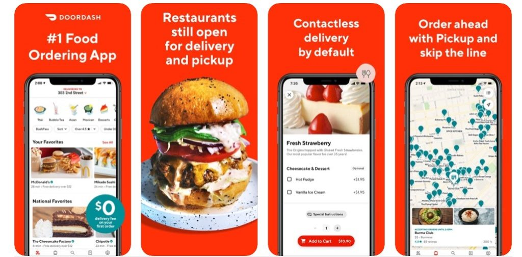 What are food ordering apps?