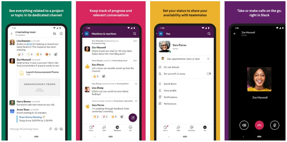 Slack Android app design