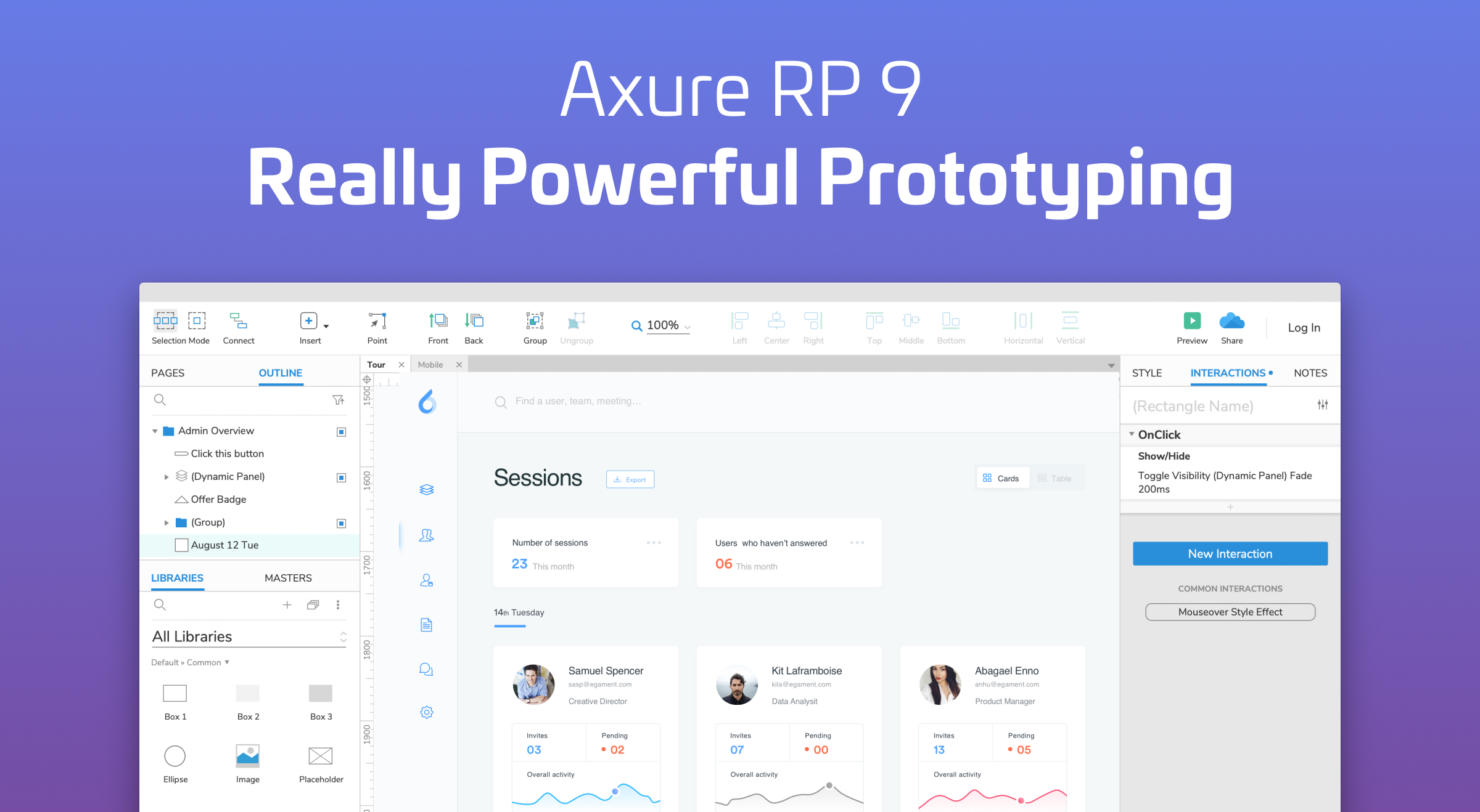 Axure prototyping