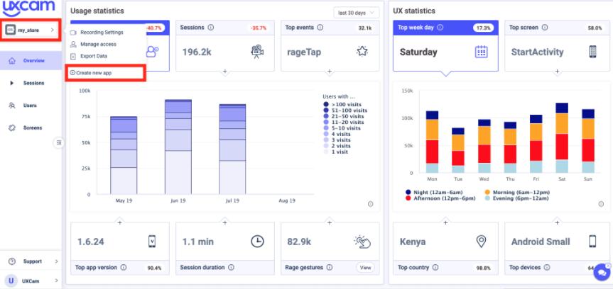 Uxcam app analytics
