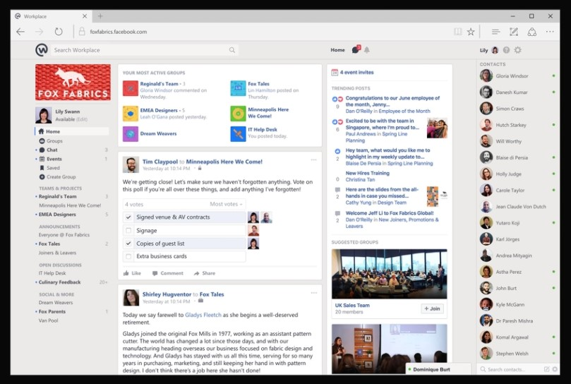 Facebook collaboration tool