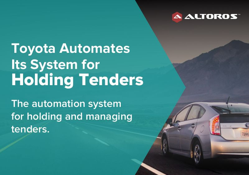 Toyota Automates Its System for Holding Tenders image 1