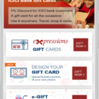ICICI Expression Gift Card