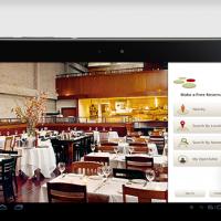 Mobile app for online table reservation