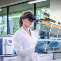 Improving Lab Connectivity with Mixed Reality Interface