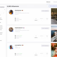 Influencer marketing campaigns management tool