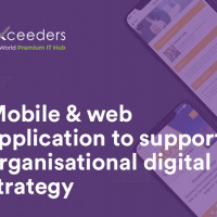 Mobile & web application to support organisational digital strategy
