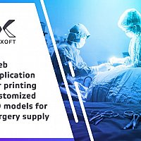 Web application for printing customized 3D models for surgery supply