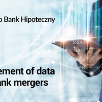 Arrangement of data after bank mergers