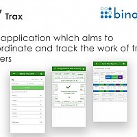 iOS application which aims to coordinate and track the work of truck drivers
