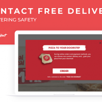 Pizza Hut Contact-free delivery feature