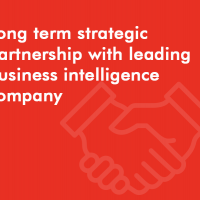 Long term strategic partnership with leading business intelligence company