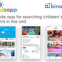 Mobile app for searching children's events in the UAE