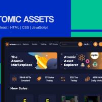 Atomic Hub - Digital assets marketplace | React | HTML | CSS | JavaScript