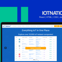 IoTNation - Database as a Service | React | HTML | CSS | Javascript
