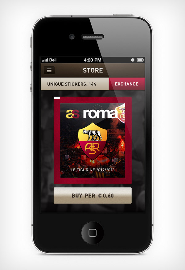 """Mobile app for football club """"Roma"""" image 1"""