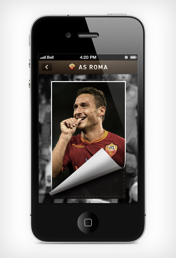 """Mobile app for football club """"Roma"""" image 4"""