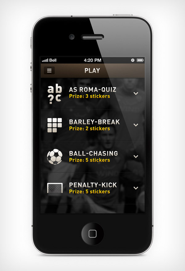 """Mobile app for football club """"Roma"""" image 2"""