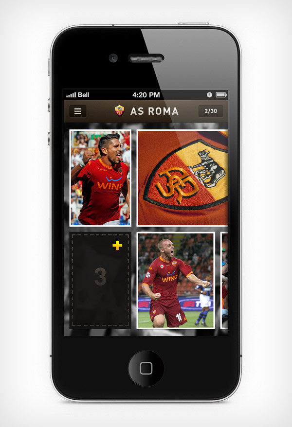 """Mobile app for football club """"Roma"""" image 5"""