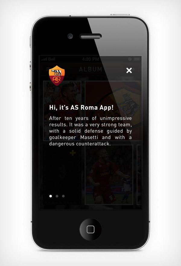 """Mobile app for football club """"Roma"""" image 6"""