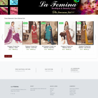 Ecommerce website for Lafemina
