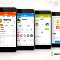 Champ Chart- Free mobile application for tracking scores deployed on Google Play and App Store