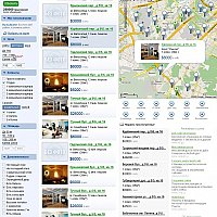 Web site for real estate search Domdot.ru