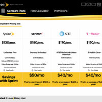Sprint in-store plan calculator