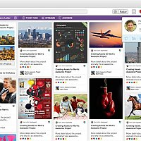 Pinterest Style Project Management Board