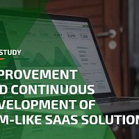 Improvement and continuous development of CRM-like SaaS solution