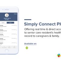 Offering real time & direct access to senior care resident's health record to caregivers & family.